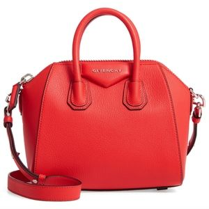 GIVENCHY Mini Antigona' Sugar Leather Satchel